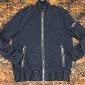 Banana Republic zip-up sweater   size M